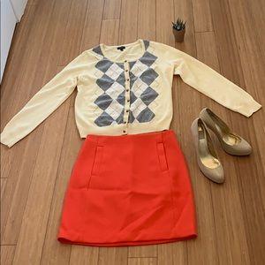 Beautiful red banana republic mini skirt